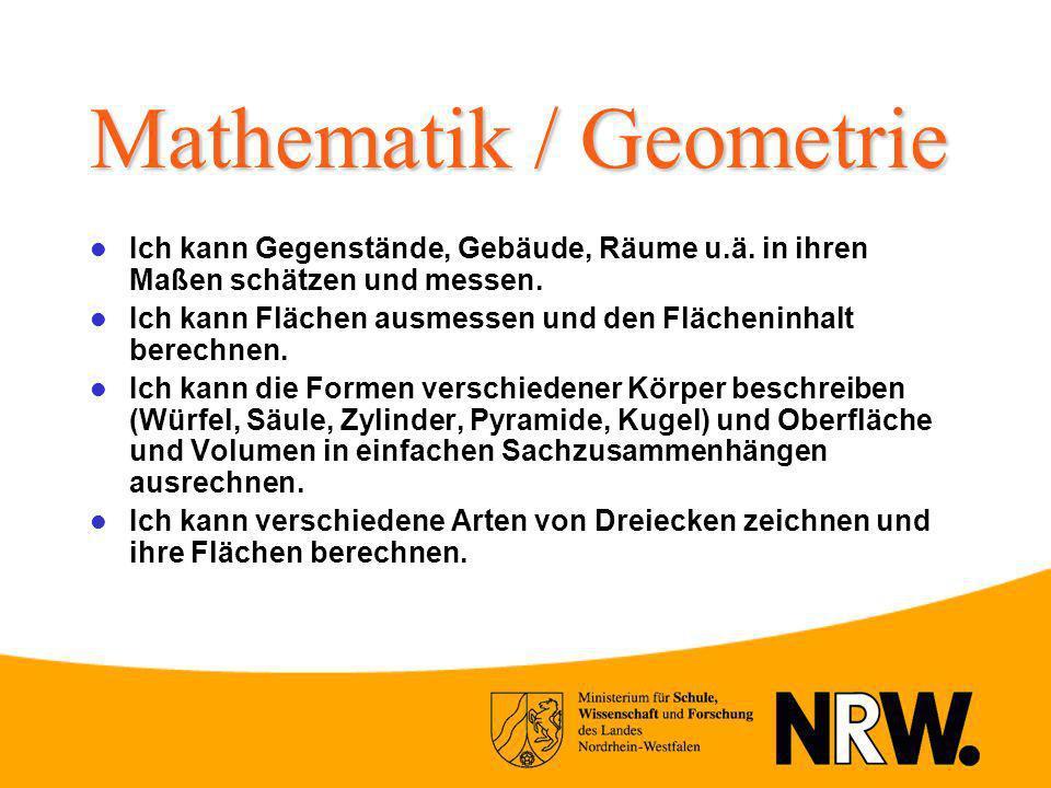 Mathematik / Geometrie