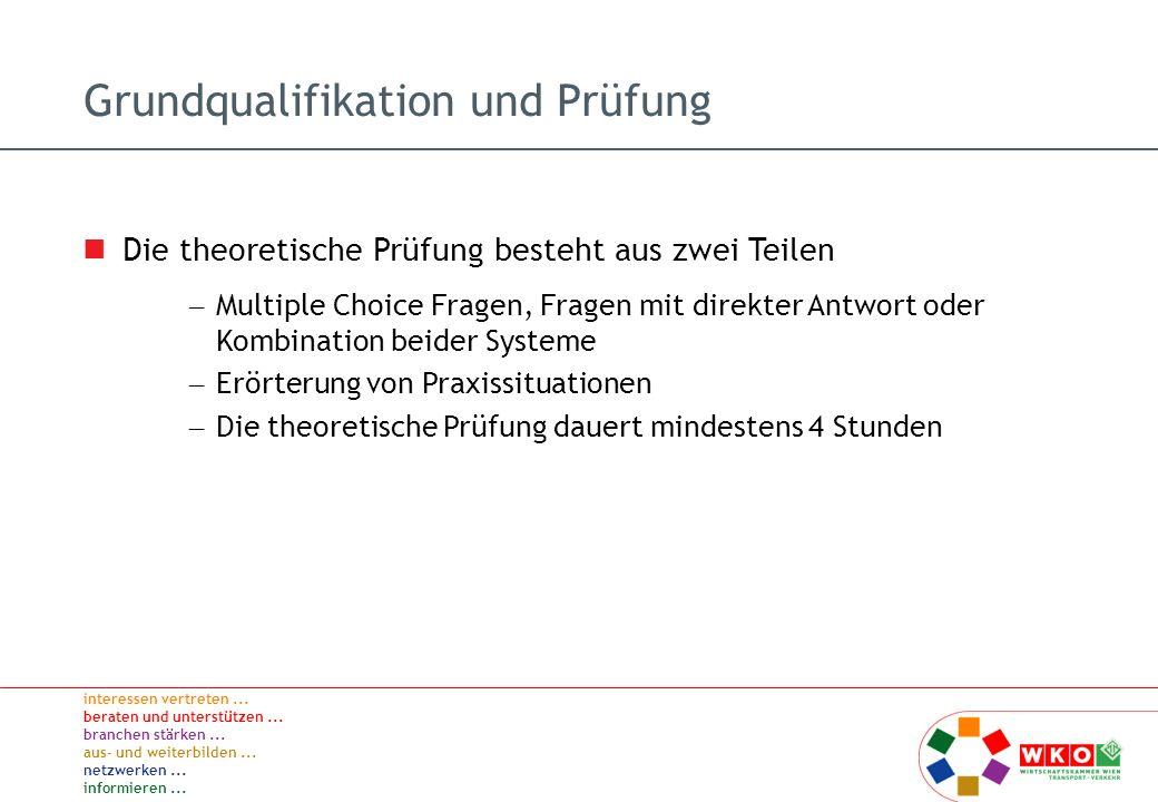 Grundqualifikation und Prüfung