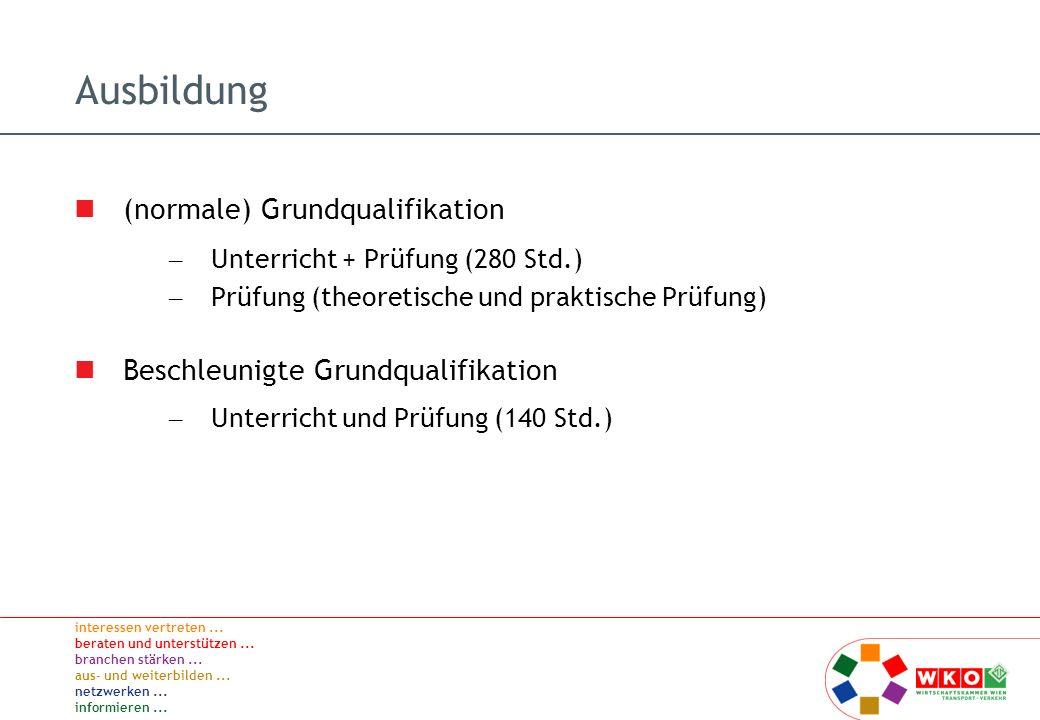 Ausbildung (normale) Grundqualifikation
