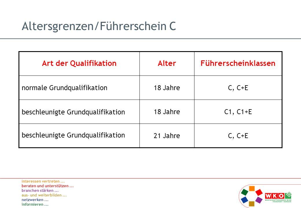Altersgrenzen/Führerschein C