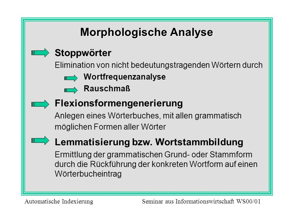 Morphologische Analyse
