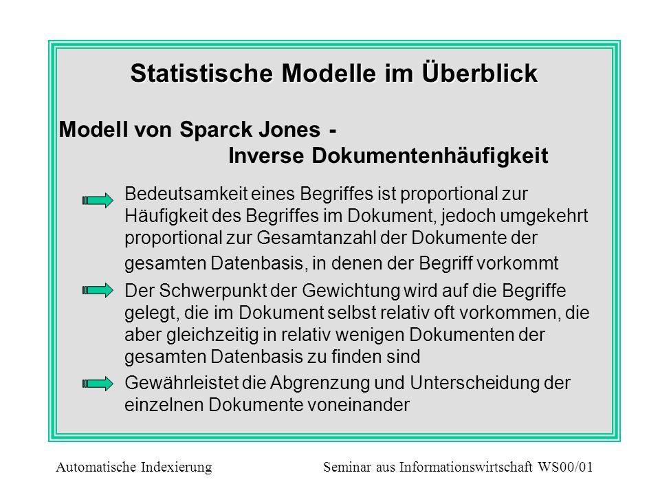 Statistische Modelle im Überblick