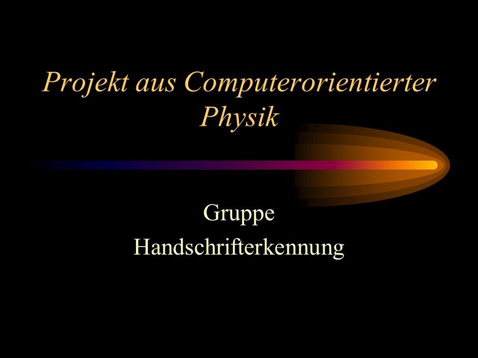 Projekt aus Computerorientierter Physik