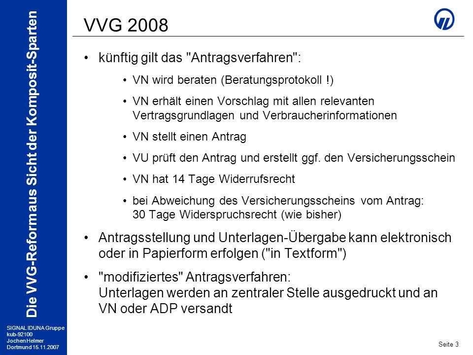VVG 2008 künftig gilt das Antragsverfahren :