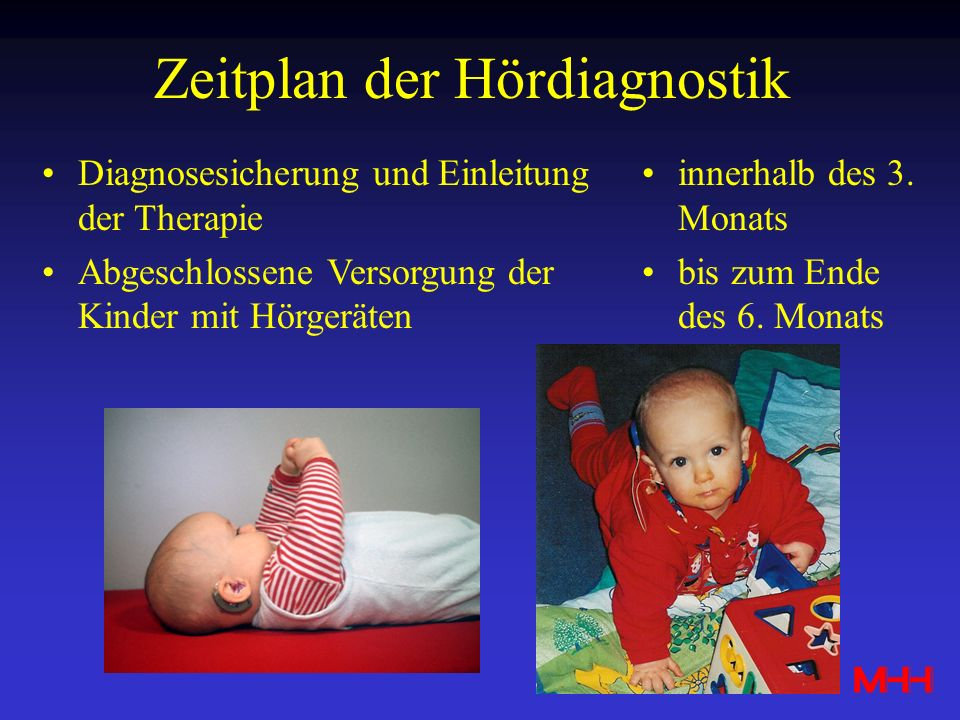 Zeitplan der Hördiagnostik