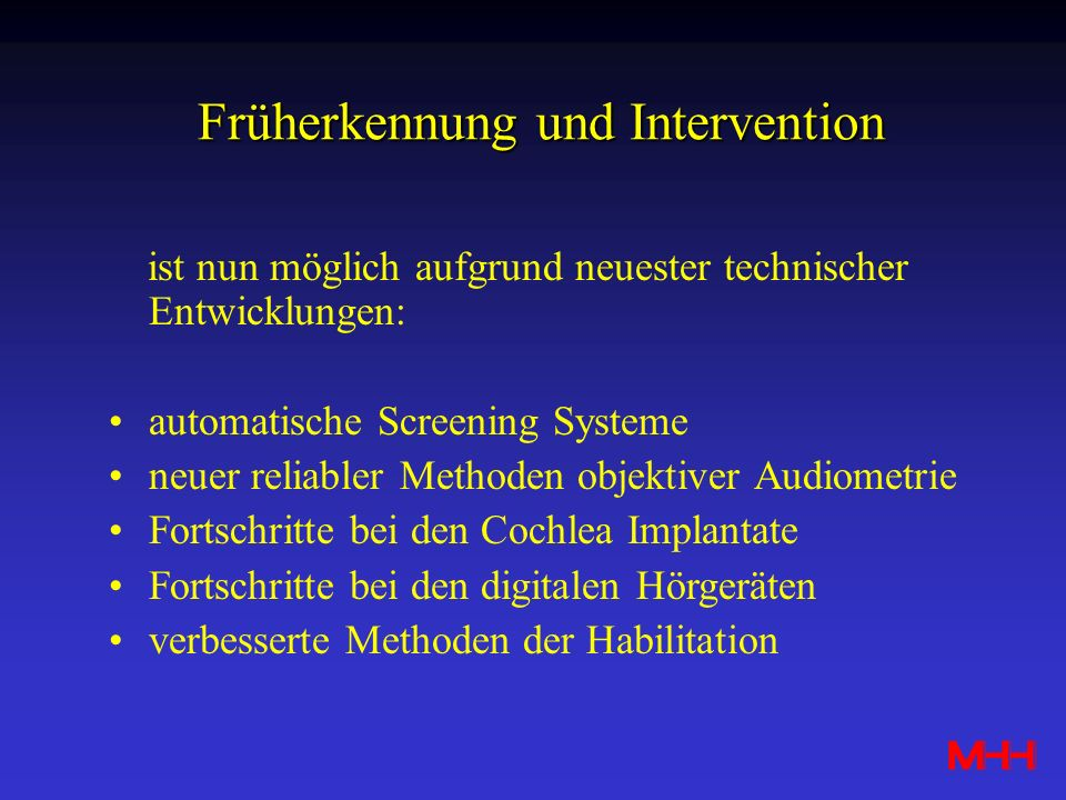 Früherkennung und Intervention