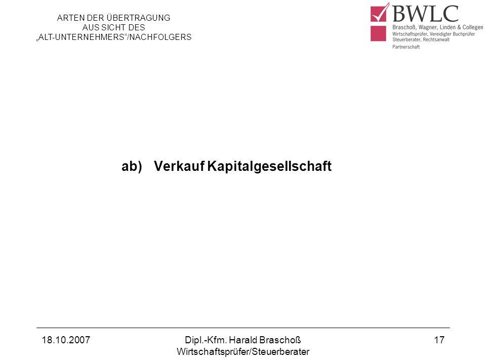 ab) Verkauf Kapitalgesellschaft