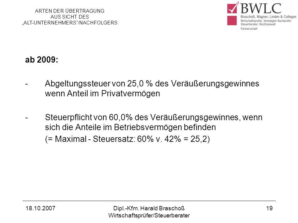 (= Maximal - Steuersatz: 60% v. 42% = 25,2)