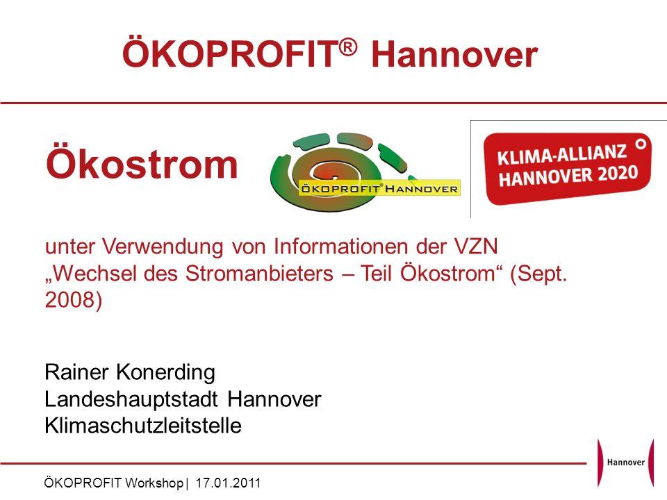 Ökostrom ÖKOPROFIT® Hannover
