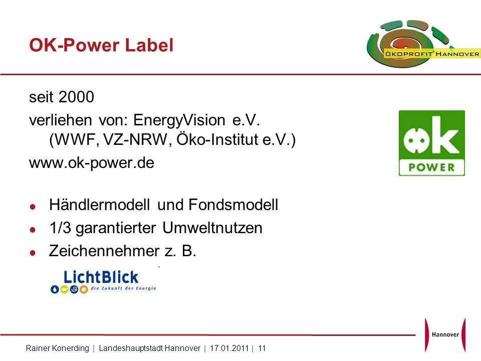 OK-Power Label seit 2000. verliehen von: EnergyVision e.V. (WWF, VZ-NRW, Öko-Institut e.V.) www.ok-power.de.