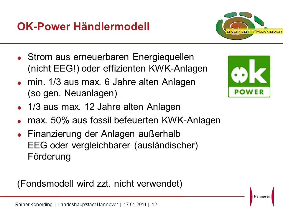 OK-Power Händlermodell