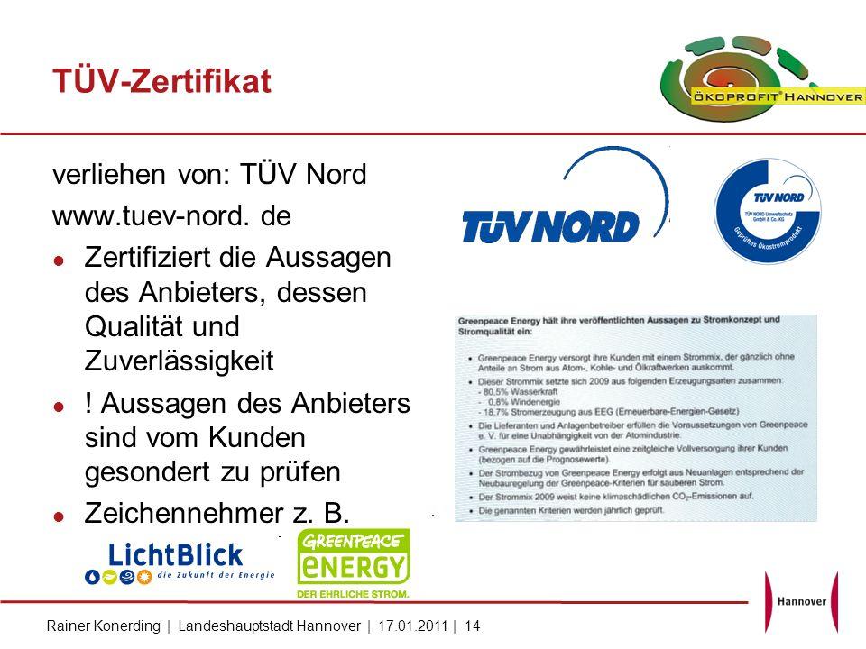 TÜV-Zertifikat verliehen von: TÜV Nord www.tuev-nord. de