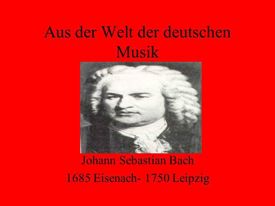 Aus der Welt der deutschen Musik