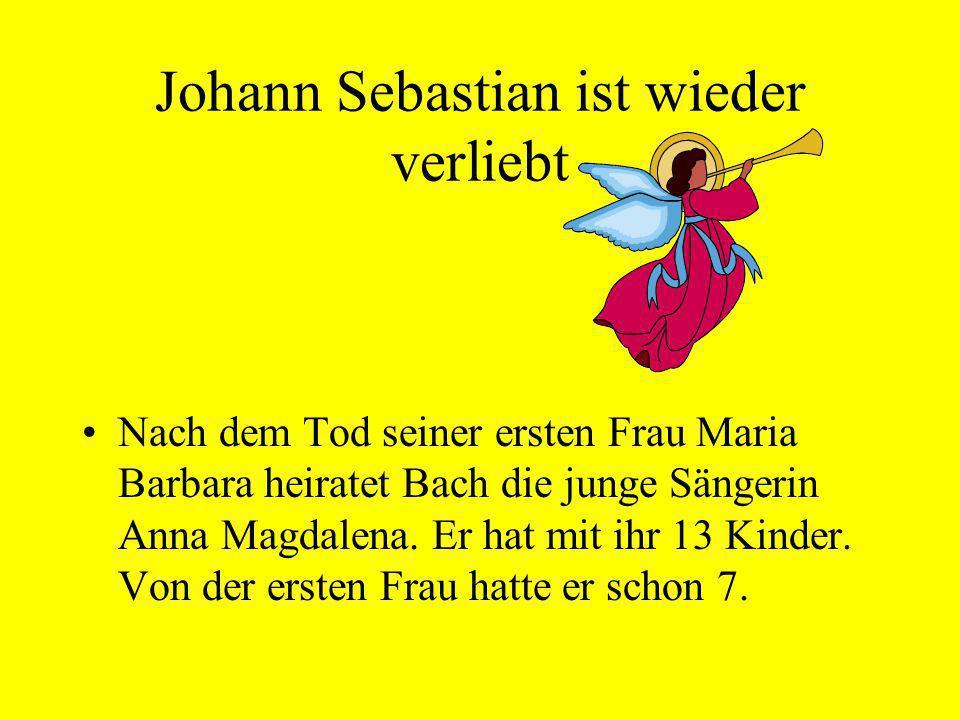 Johann Sebastian ist wieder verliebt