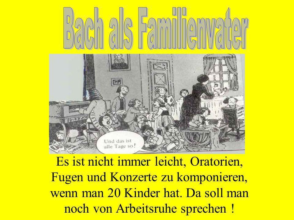Bach als Familienvater