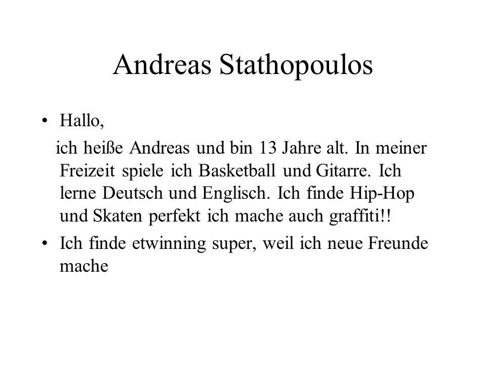 Andreas Stathopoulos Hallo,