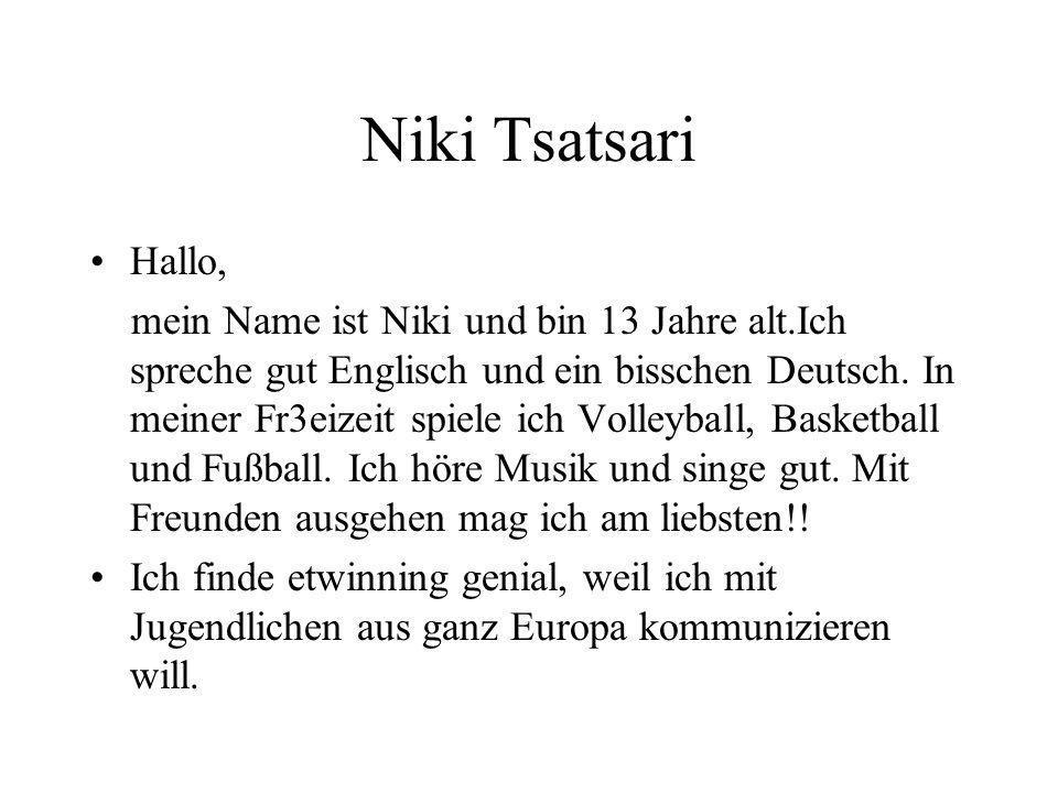 Niki Tsatsari Hallo,