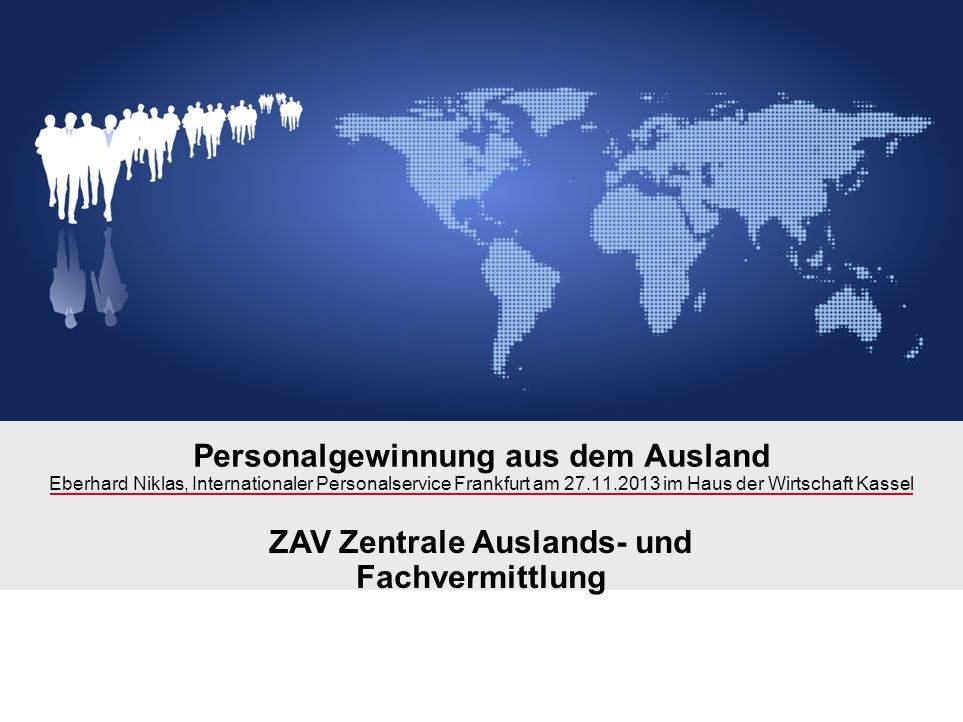 Personalgewinnung aus dem Ausland