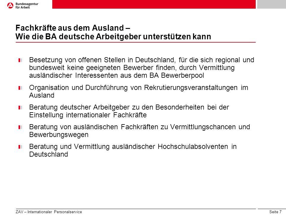 Fachkräfte aus dem Ausland – Wie die BA deutsche Arbeitgeber unterstützen kann