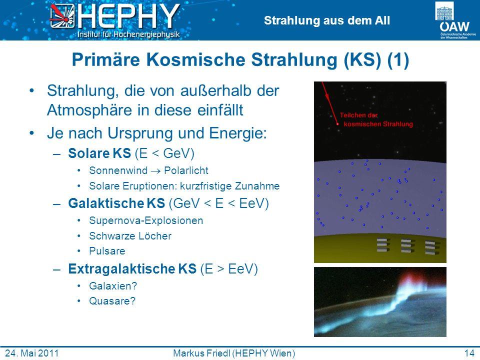 Primäre Kosmische Strahlung (KS) (1)