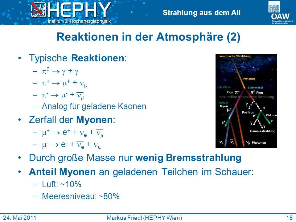Reaktionen in der Atmosphäre (2)