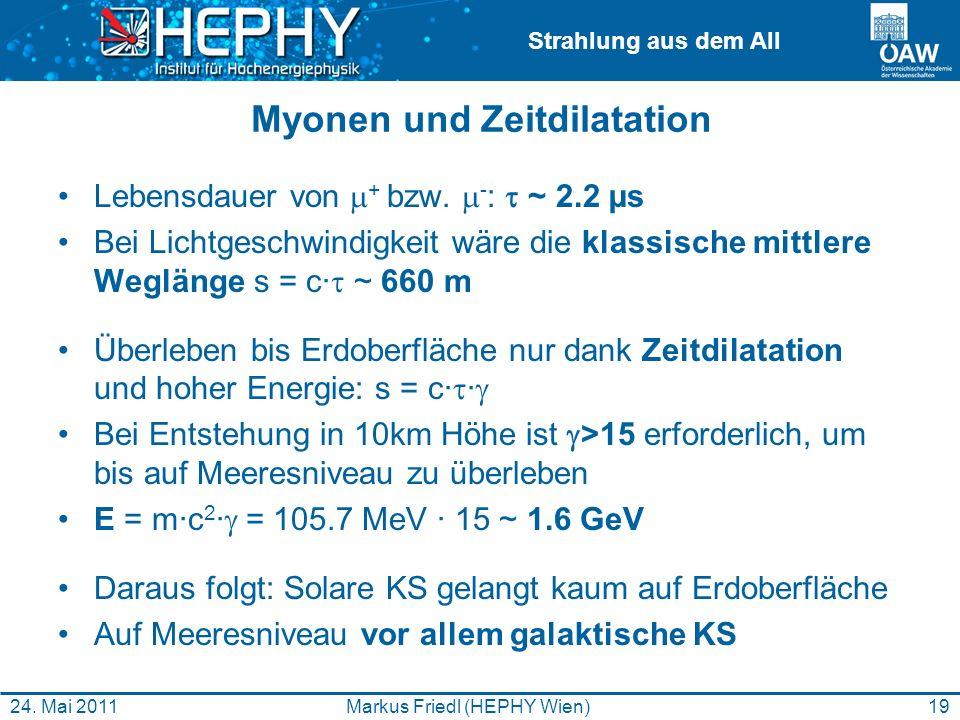 Myonen und Zeitdilatation