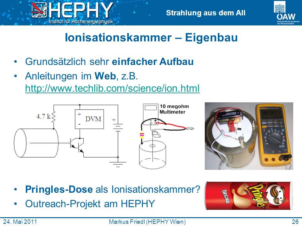 Ionisationskammer – Eigenbau