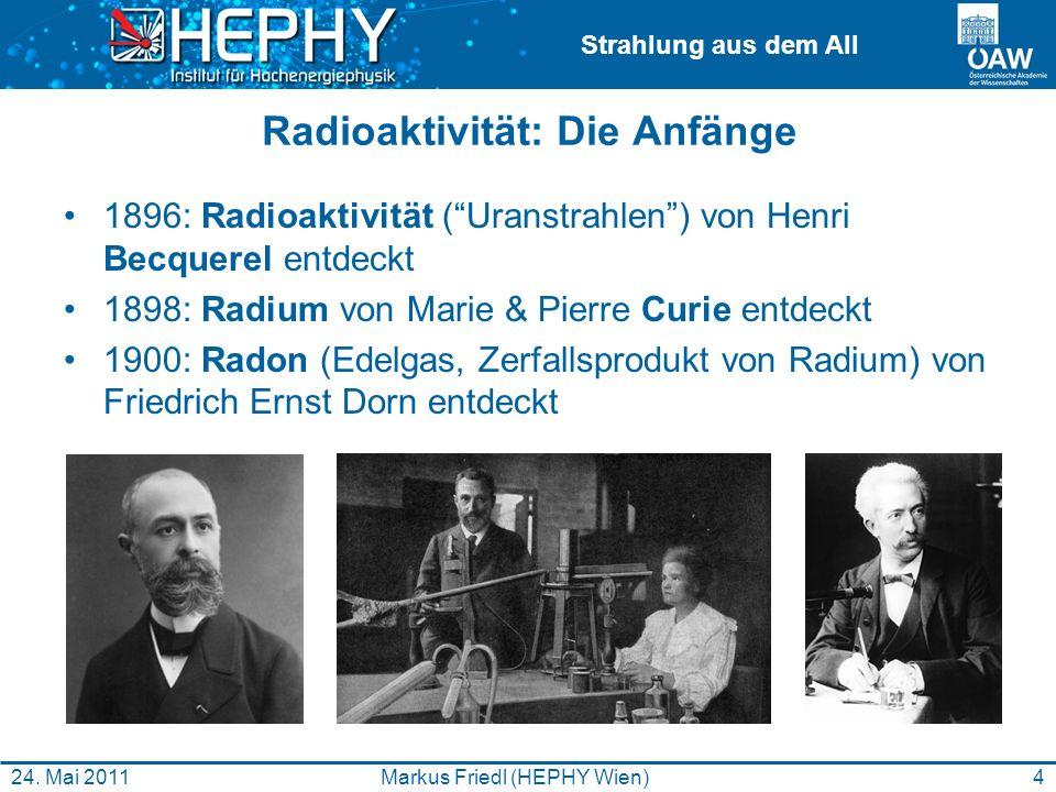 Radioaktivität: Die Anfänge