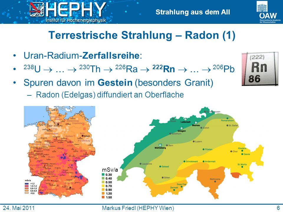 Terrestrische Strahlung – Radon (1)