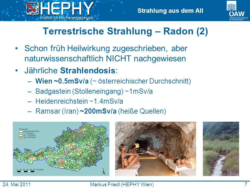 Terrestrische Strahlung – Radon (2)