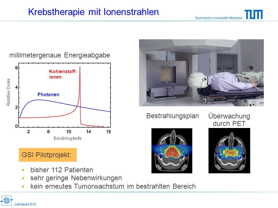 Krebstherapie mit Ionenstrahlen