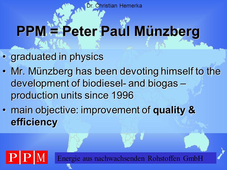 PPM = Peter Paul Münzberg