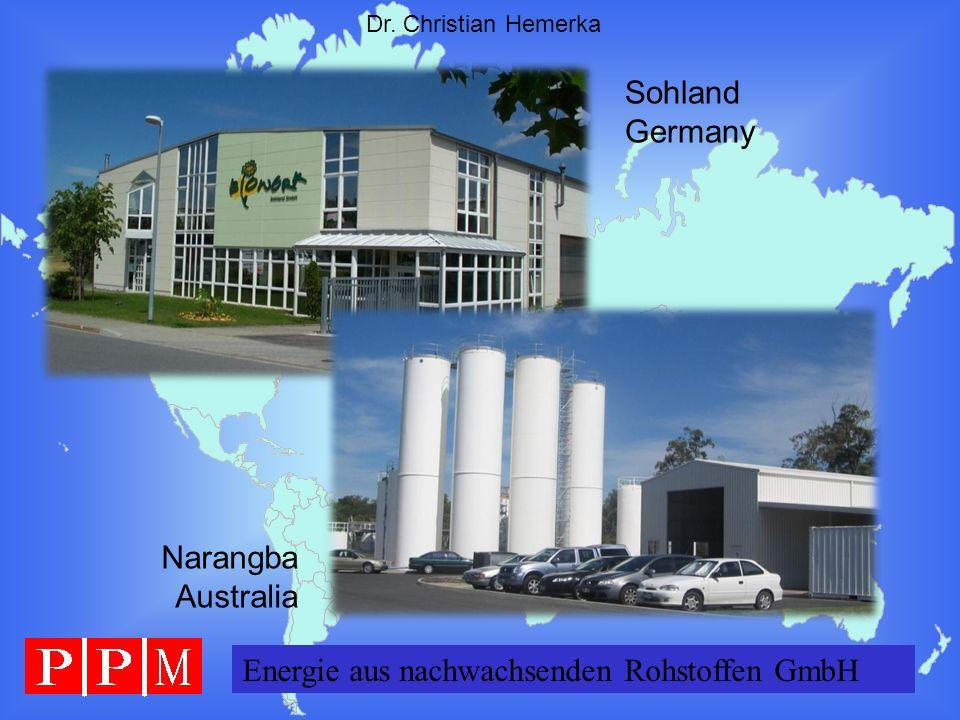 Sohland Germany Narangba Australia Energie aus nachwachsenden Rohstoffen GmbH