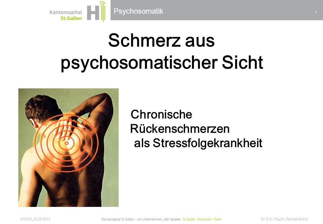 psychosomatischer Sicht als Stressfolgekrankheit