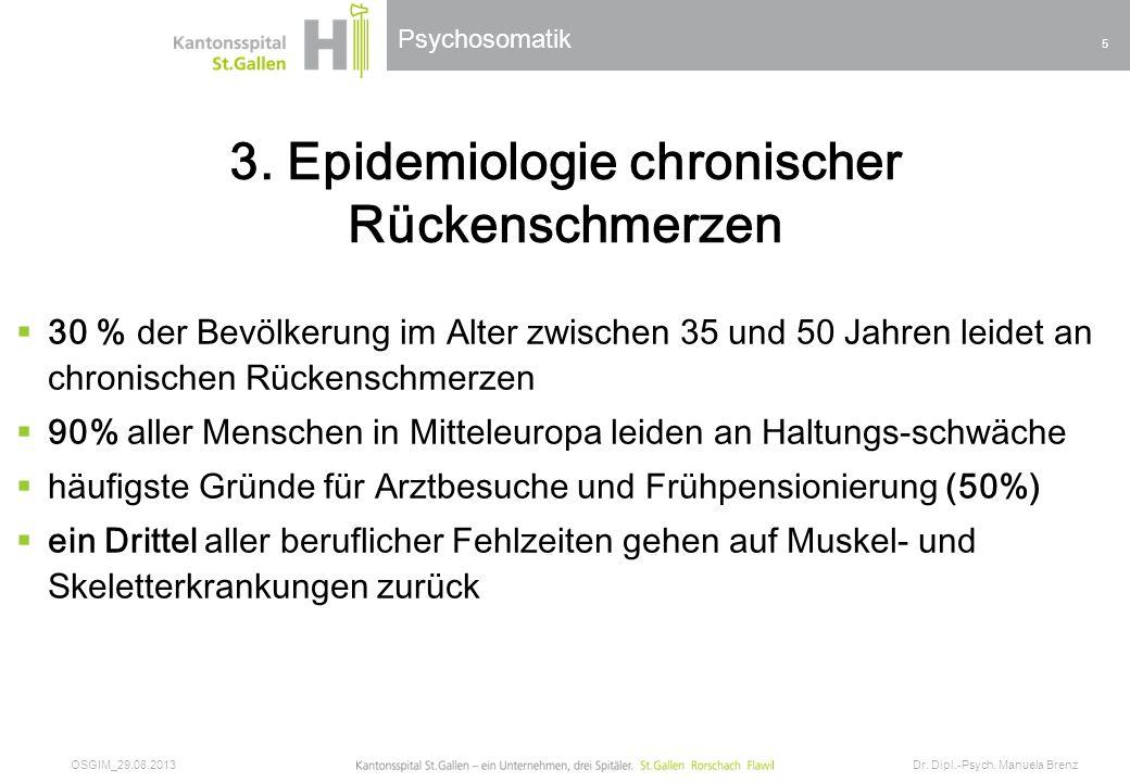 3. Epidemiologie chronischer Rückenschmerzen