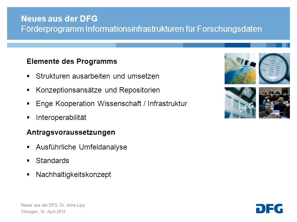 Förderprogramm Informationsinfrastrukturen für Forschungsdaten
