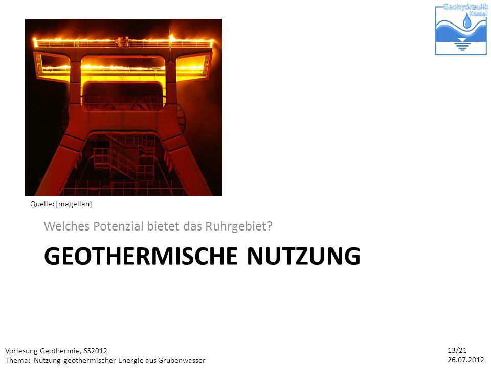 Geothermische Nutzung