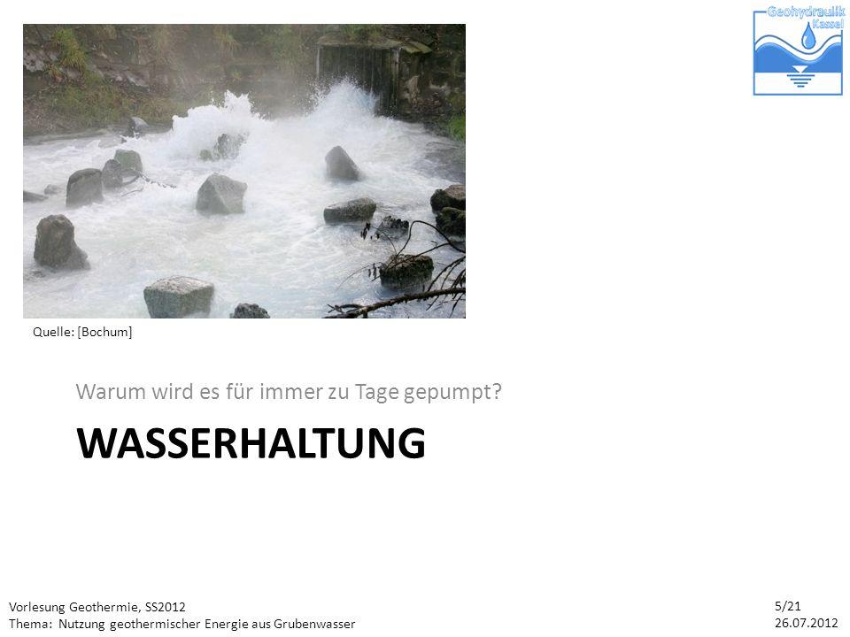 Wasserhaltung Warum wird es für immer zu Tage gepumpt