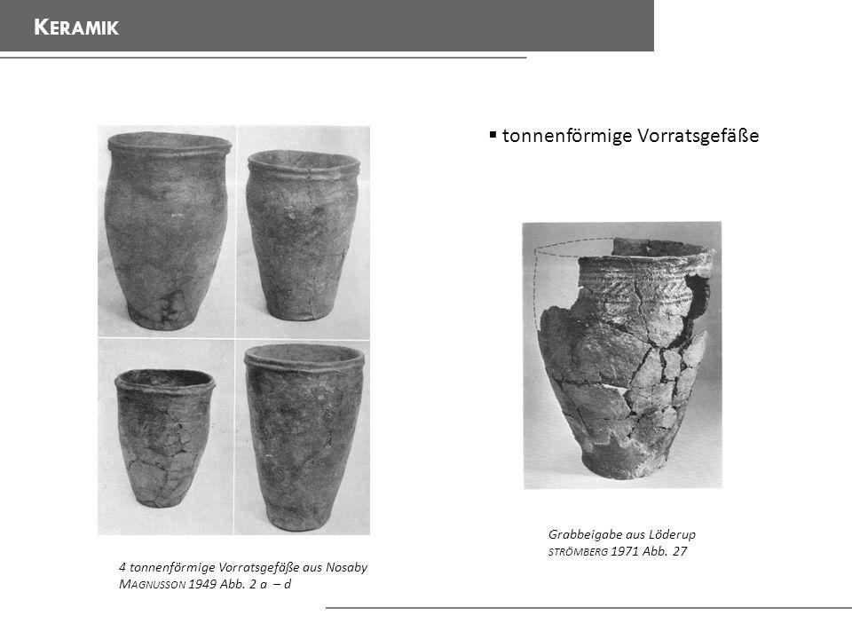 Keramik tonnenförmige Vorratsgefäße Grabbeigabe aus Löderup