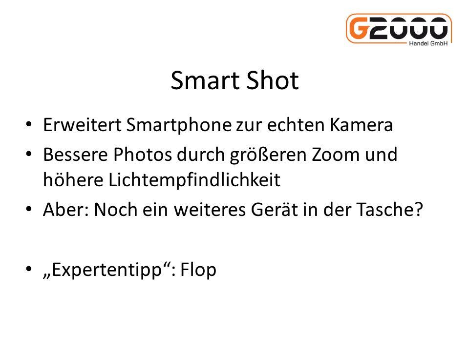 Smart Shot Erweitert Smartphone zur echten Kamera