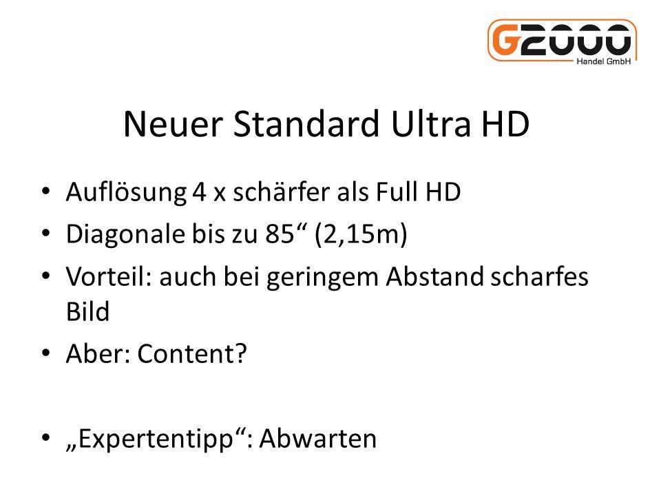 Neuer Standard Ultra HD
