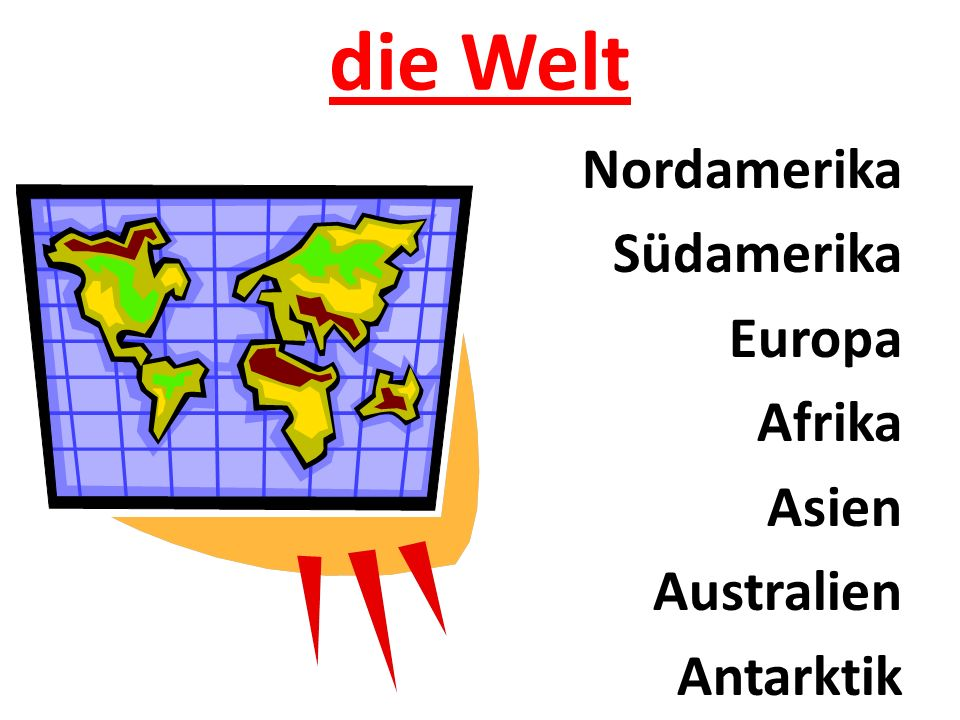 die Welt Nordamerika Südamerika Europa Afrika Asien Australien Antarktik