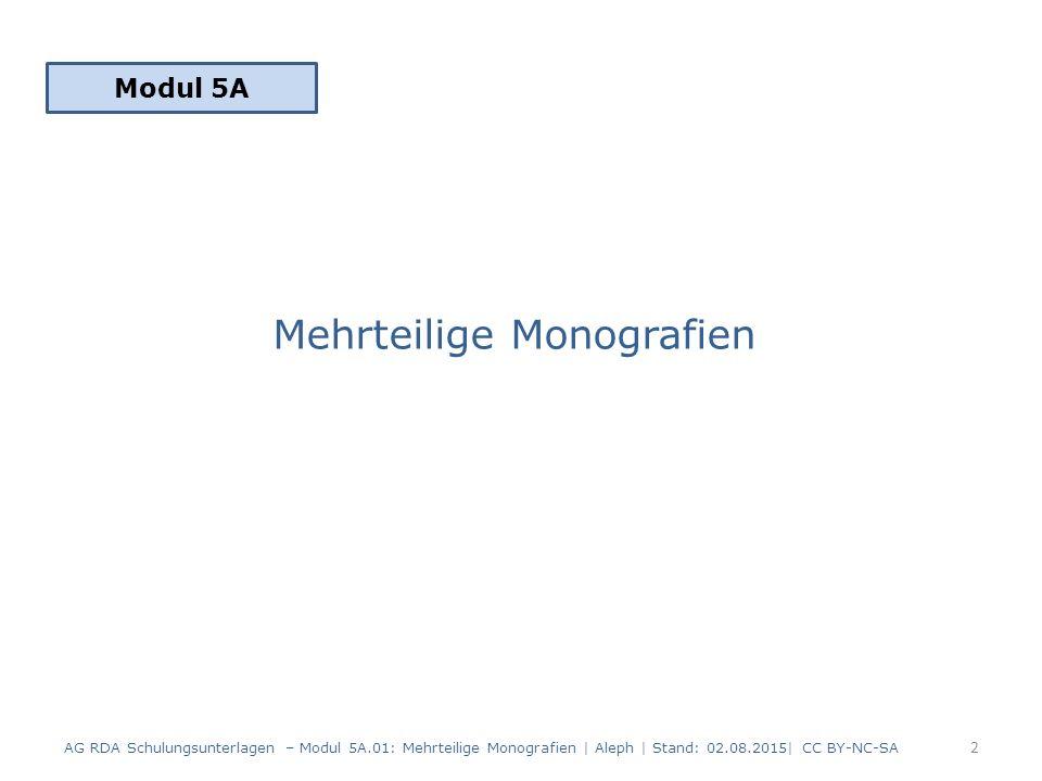 Mehrteilige Monografien