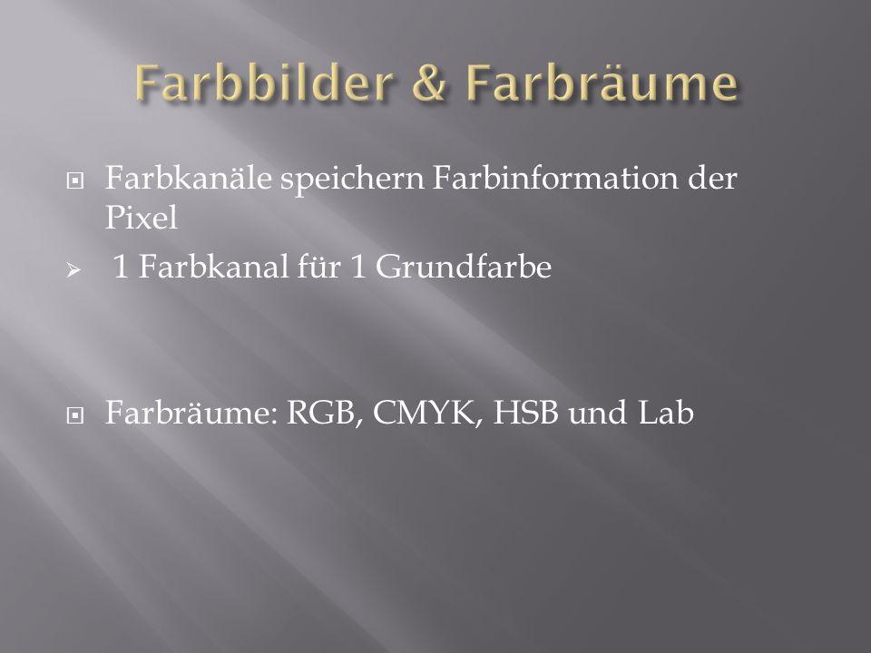 Farbbilder & Farbräume