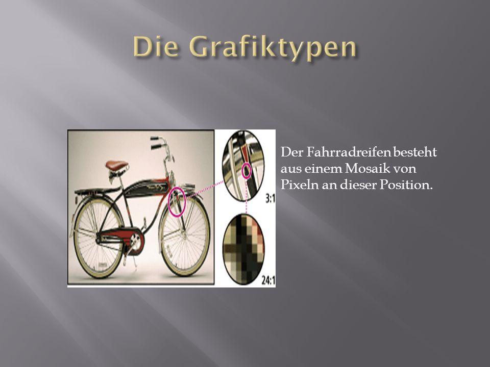 Die Grafiktypen Der Fahrradreifen besteht