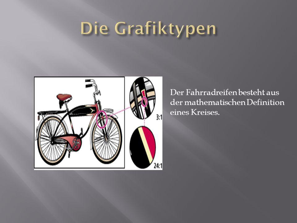 Die Grafiktypen Der Fahrradreifen besteht aus