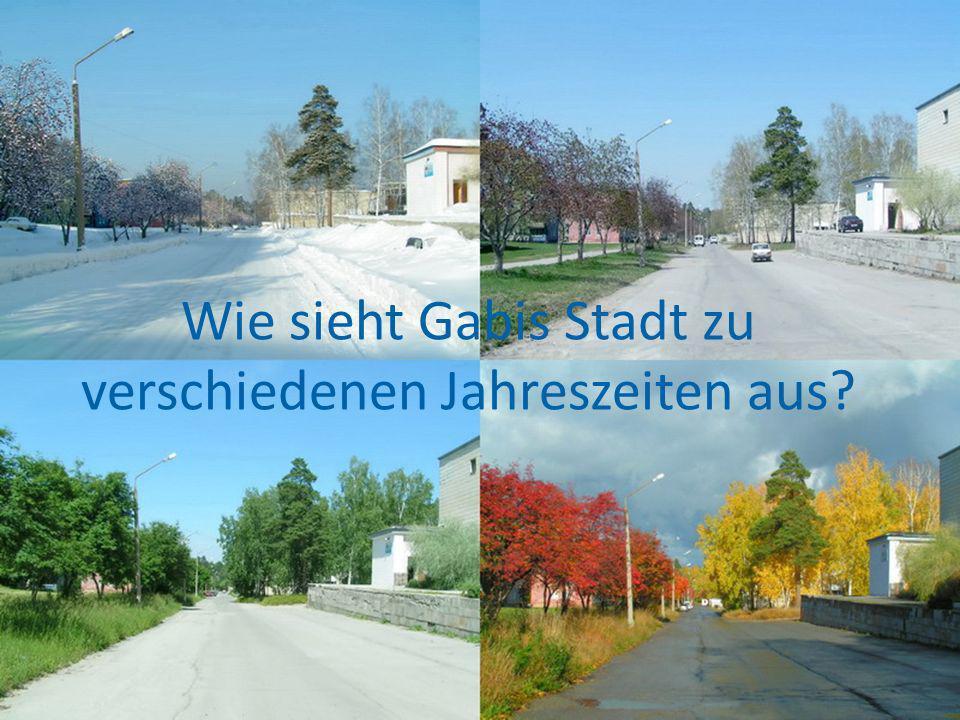 Wie sieht Gabis Stadt zu verschiedenen Jahreszeiten aus