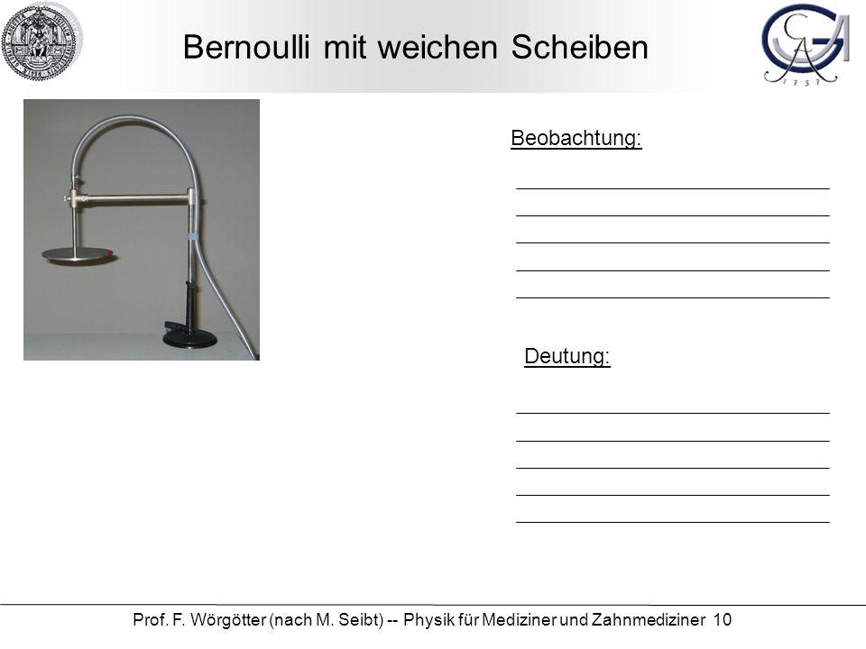Bernoulli mit weichen Scheiben