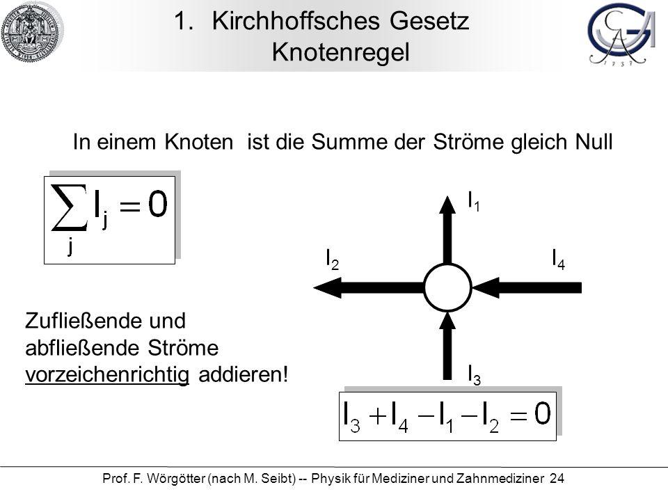 Kirchhoffsches Gesetz Knotenregel