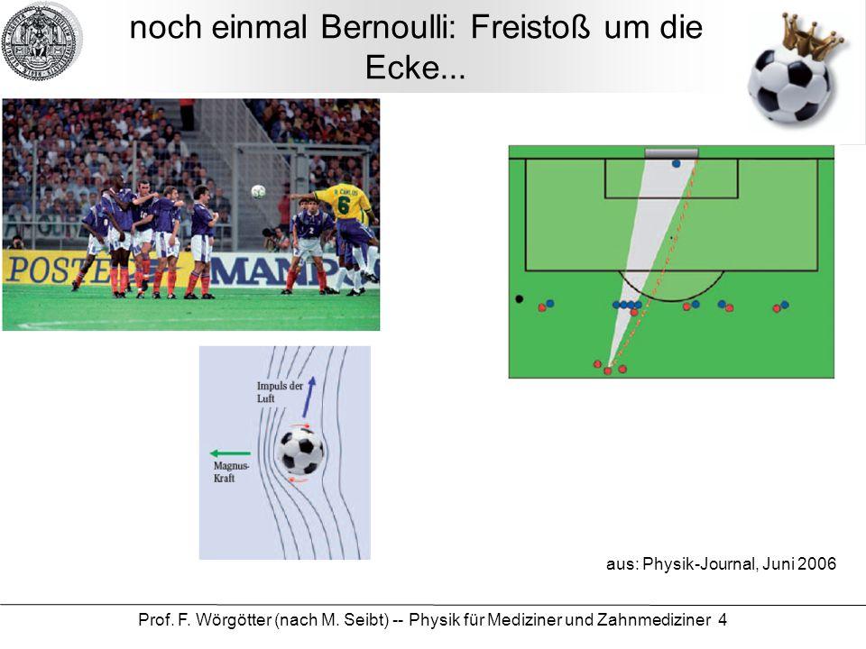 noch einmal Bernoulli: Freistoß um die Ecke...